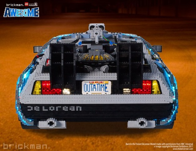 LEGO® Brick Back to the Future DeLorean back