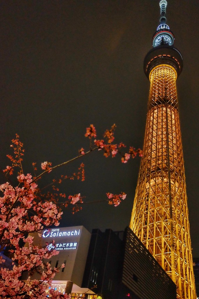 Olympic Gold Medal colored Tokyo Skytree