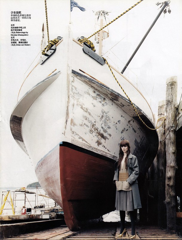 The Maine Event : Coco Rocha photographed by Arthur Elgort in Vogue China Oct 2006