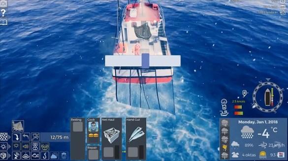 Fishing Barents Sea - Net Casting