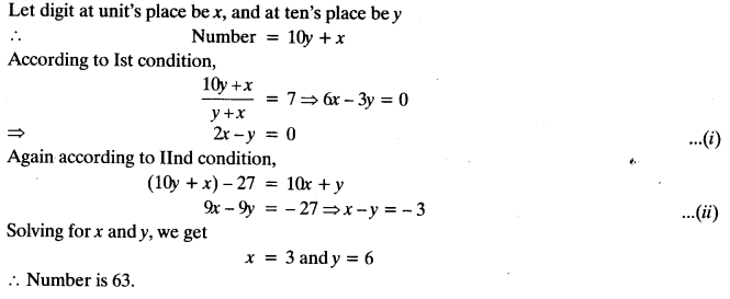 Important Questions for Class 10 Maths Chapter 3 Pair of Linear