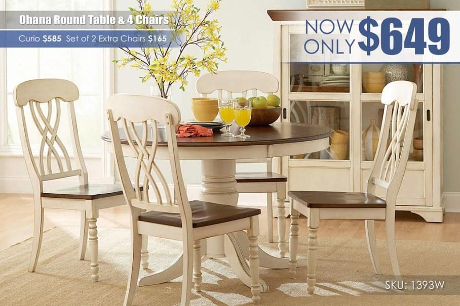 Ohana White Round Table_1393W