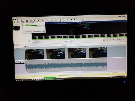 Image of the video rendering in progress