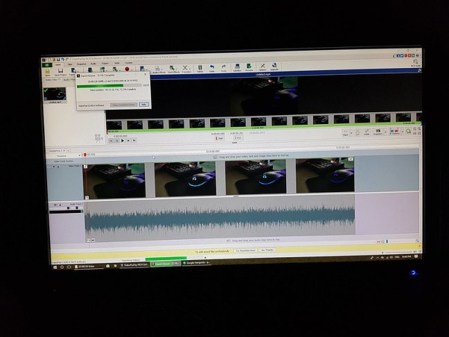 Image of the video rendering in progress