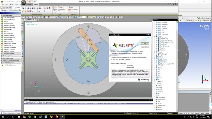 Working with FunctionBay Multi-Body Dynamics for ANSYS 18.2 full