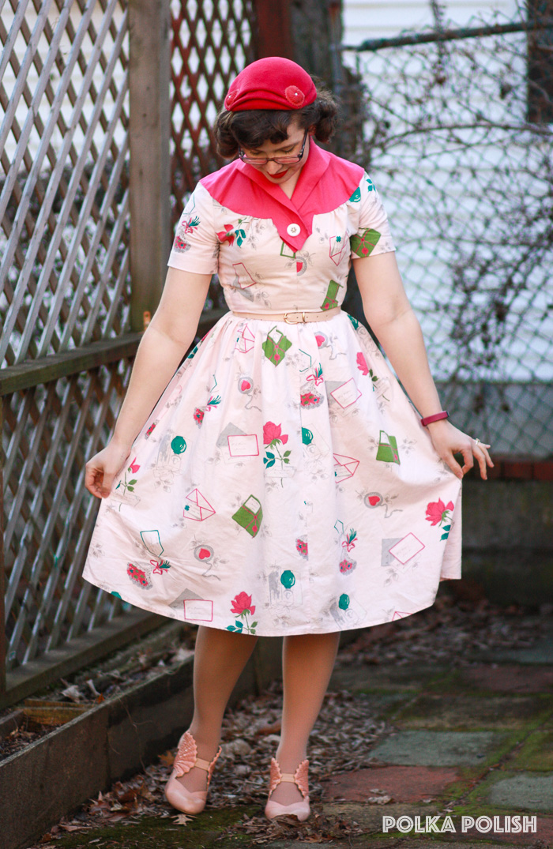 """Love Letters"" vintage dress"