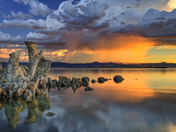 Sunrise Rain Shower, Mono Lake, Eastern Sierra, California