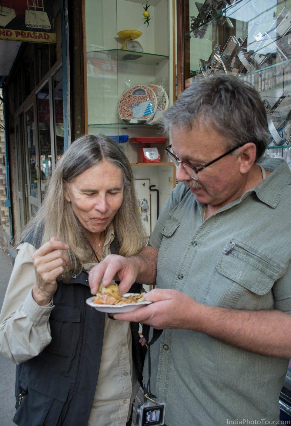 Tasting Kulia Ki Chaat in Chawri Bazar