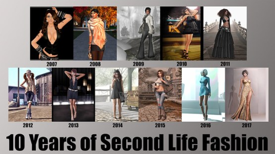 10 Years of Second Life Fashion