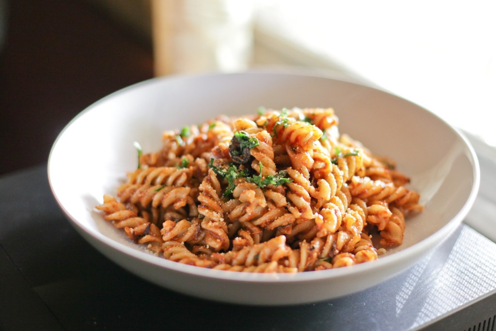 Fusilli Sardines Pasta with Sun-dried Tomatoes