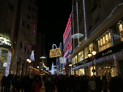 Christmas decoration in Budapest