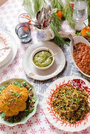 Rice, Lentils and Whole Roasted Cauliflower