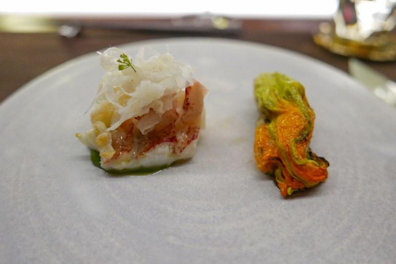 Ingrid Bengis Lobster, Fennel, Zucchini Blossom, Thai Basil
