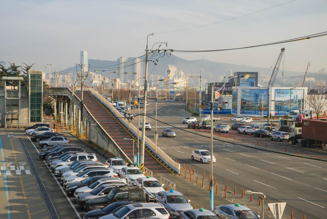 KTX Busan train view