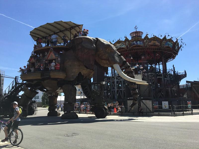 Le Grand Elephant et Le Carrousel des Mondes Marins, Nantes