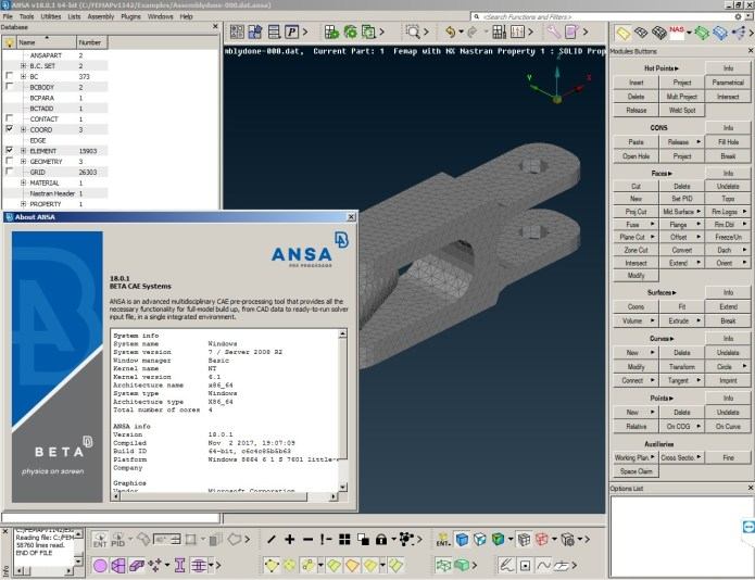 Working with BETA CAE ANSA 18.0.1 full license