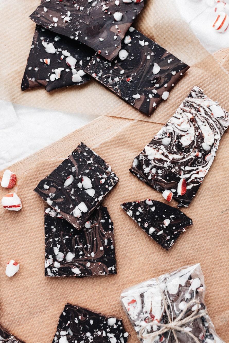 Marmorerad vegansk choklad