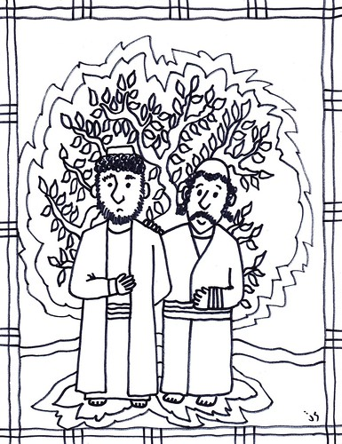 church kids coloring pages