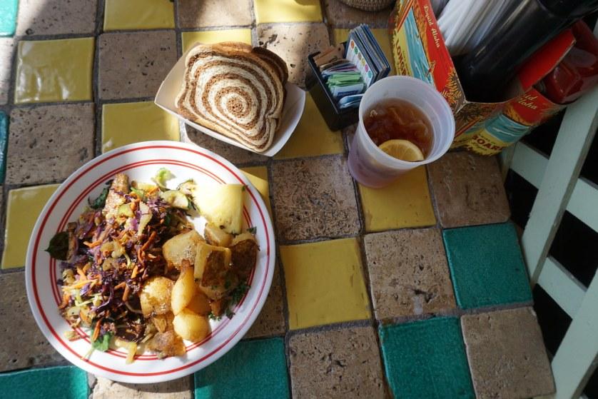 Vegan Breakfast (Tofu Scramble with Veggies) at Dancing Avocado Kitchen, Daytona Beach, July 2017