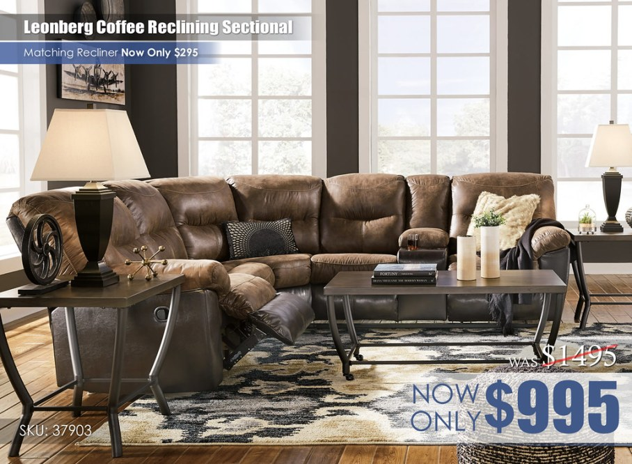 Leonberg Coffee Reclining Sectional_37903-48-49-T048-PILLOW