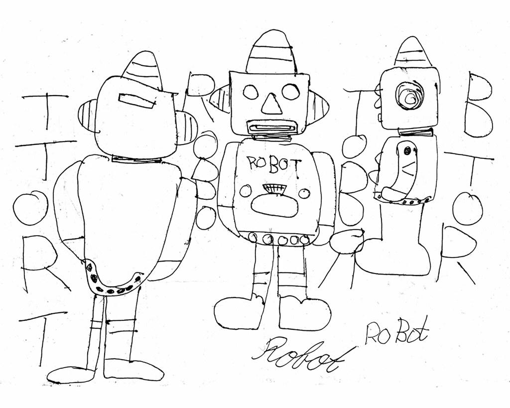 Robot Coin Bank Schematic