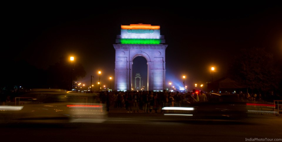 Trip to India Gate after sunset