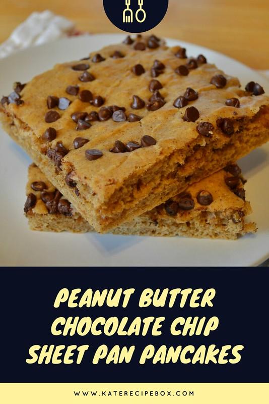 Peanut Butter Chocolate Chip Sheet Pan Pancakes