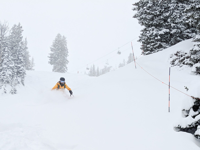 skiing at solitude mountain