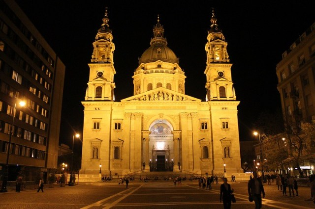paseo nocturno por Budapest