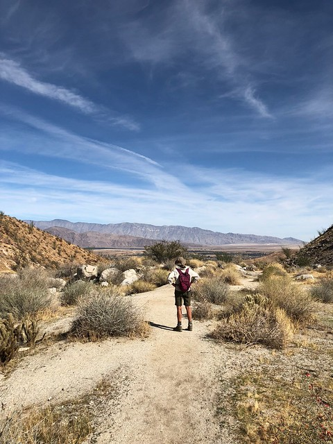 Borrego Springs - Linda looking over the hellhole trail