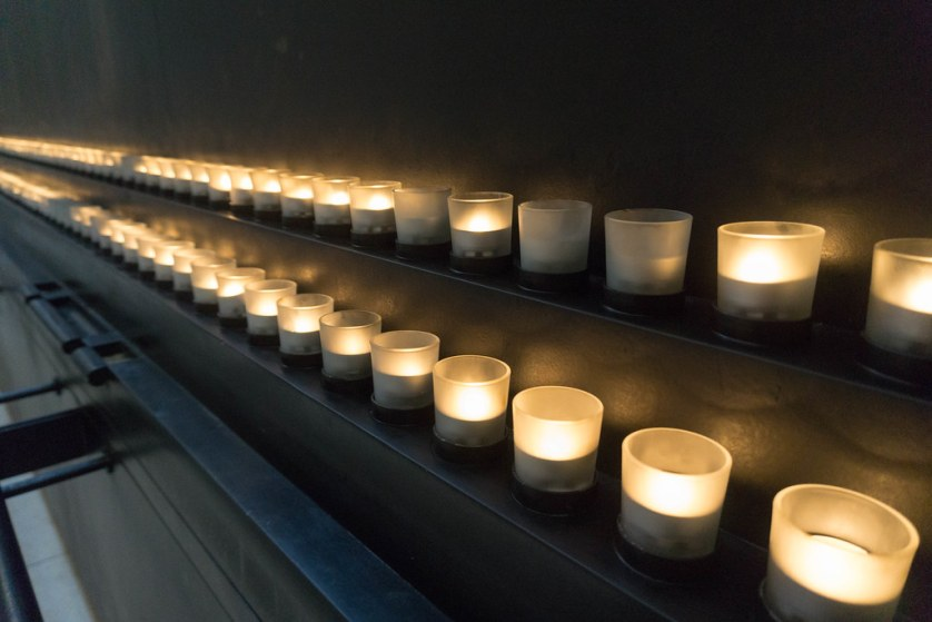 Candles at the United States Holocaust Memorial Museum