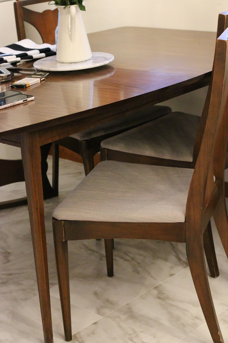 reupholster dining chairs pride mobility lift chair how to kitchen nook reveal styleanthropy old set seat 1 reupholstering
