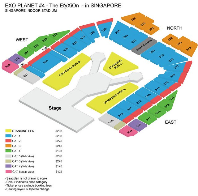 EXO PLANET #4 – The EℓyXiOn – in SINGAPORE Seating Plan