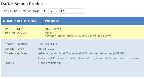 BPOM QNC- Obat Batu Empedu Resep Dokter