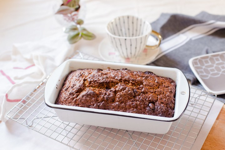 Spiced Dark Chocolate Banana Bread