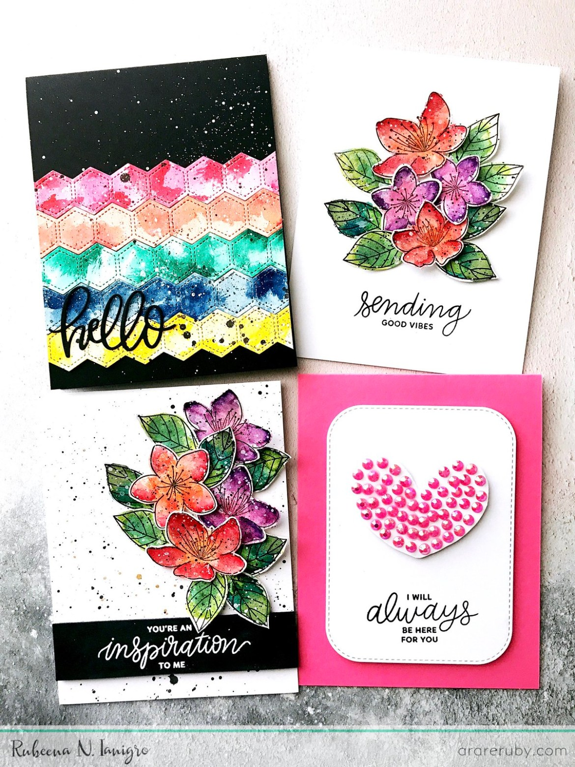 PPP March Blog Hop Cards - Rubeena Ianigro