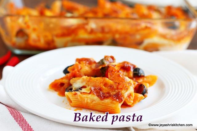 Baked arrabbiata sauce pasta