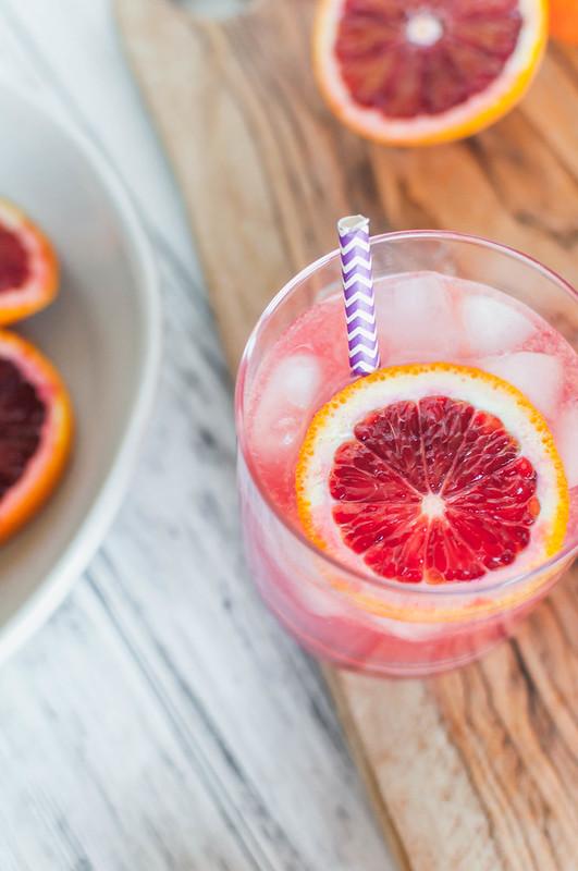 Sparkling Blood Orange Margaritas