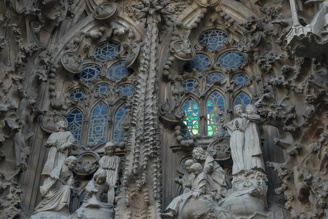 La Sagrada Familia Exterior Windows