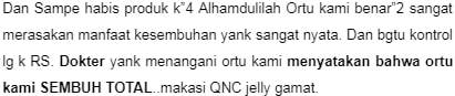 bukti keampuhan qnc jelly gamat