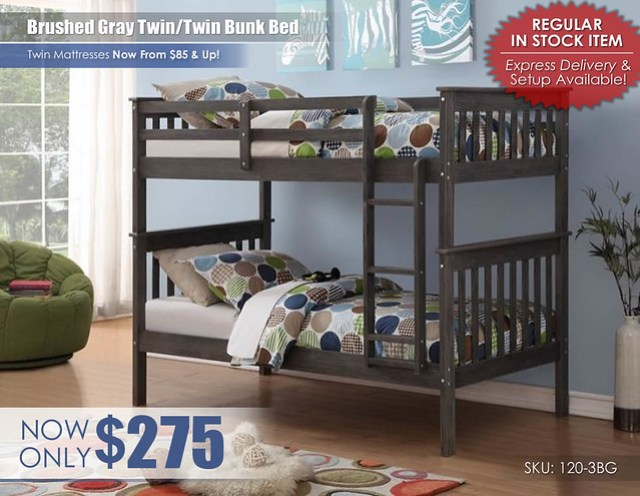 Brushed Gray Twin over Twin Bunk Bed_120-3BG_stamp