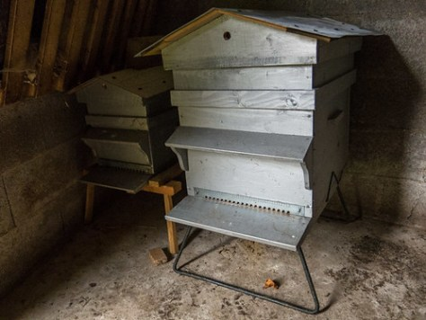 Beehive made by a beekeeper friend