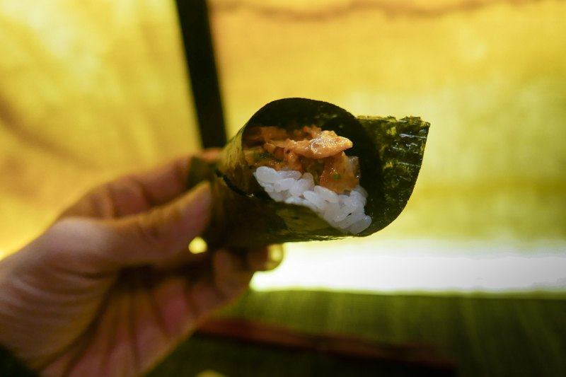 Spicy Tako Octopus Temaki