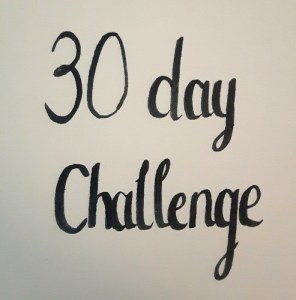 30 day hand lettering challenge