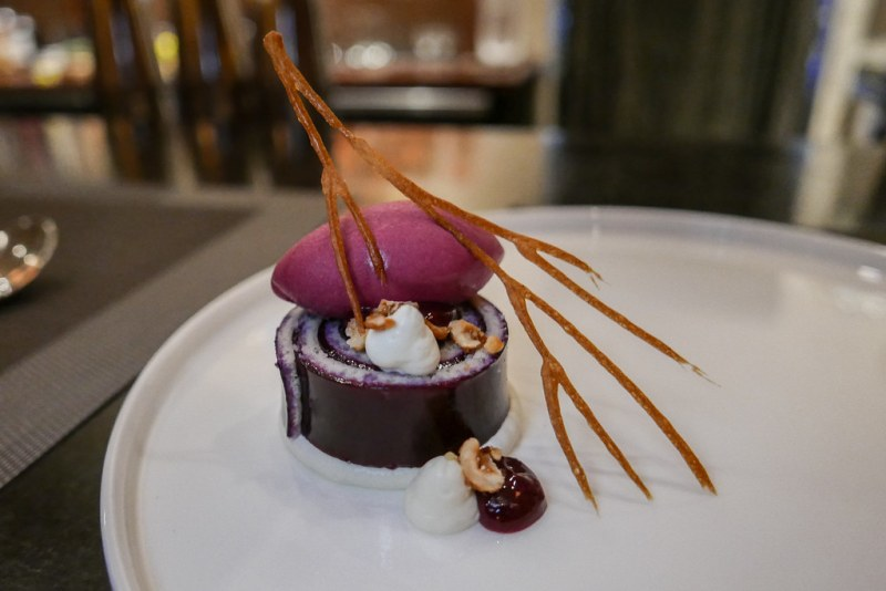 BAR and TASTING MENUS: Concord Grape, Hazelnut, Tahini ($14)