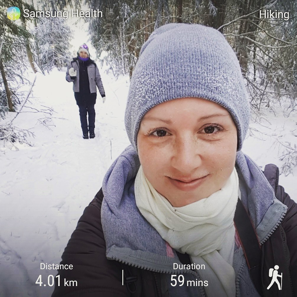 Winter hike at Tottenham Tract in Simcoe County Forest