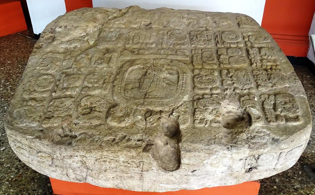 arte maya Altar gigante de Puerto Barrios Clasico Museo Nacional Arqueologia y Etnologia Ciudad de Guatemala