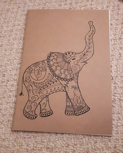 Stitching santa - elephant notebook