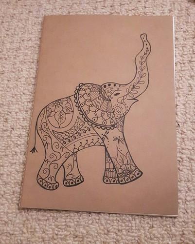 Stitching santa - elephant notebook
