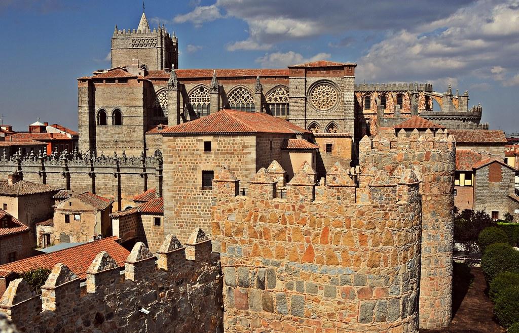 Overview City Avila Spain